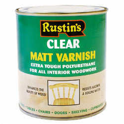 Rustins-Polyurethane Matt Varnish 500ml
