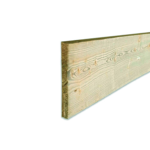 Gravel Board Treated Sawn Timber - 22 x 150 x 3000mm