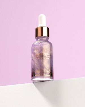 The Supernova Celestial Skin Elixir with Purple Background