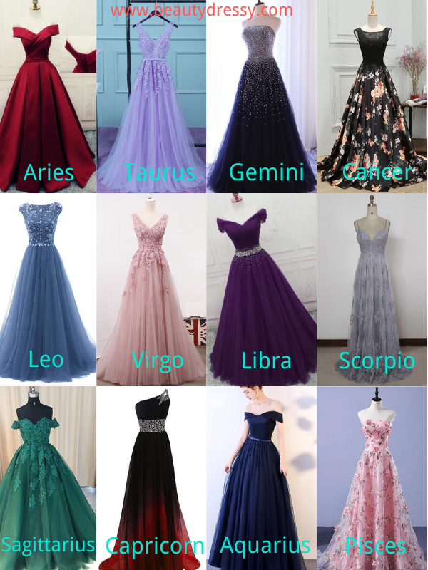 Find Your Prom Dress According to Zodiac Signs