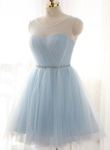light blue party dress