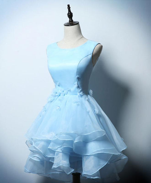 Lovely Blue Homecoming Dress 2019, Short Party Dress
