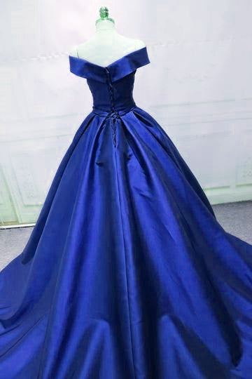 Beautiful Royal Blue Party Dress, Prom Dress 2019, Long Formal Gowns