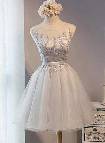 light grey party dress