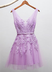 lavender short party dress
