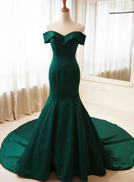 Charming Sweetheart Long Mermaid Gown, Green Party Dress 2019