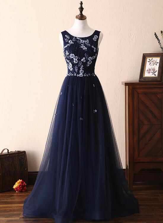 963bc5a0952 Charming Navy Blue Wedding Party Dresses