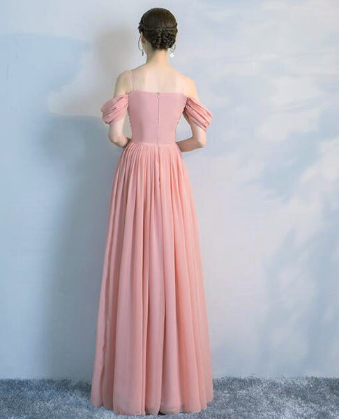 Charming Mismatch Long Dark Pearl Pink Bridesmaid Dress 2019, Beautiful Formal Gown 2019