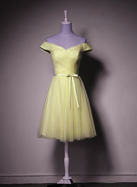 Light Yellow Party Dress 2019