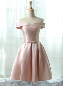 short pink homecoming dress