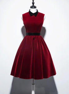 dark red party dress