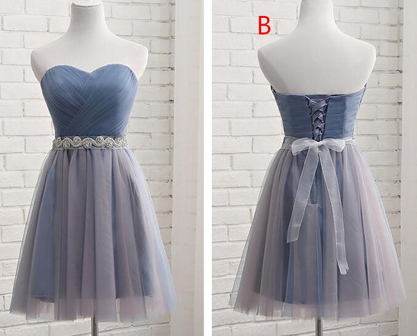 Lovely Tulle Sweetheart Formal Dress with Belt, Cute Party Dress