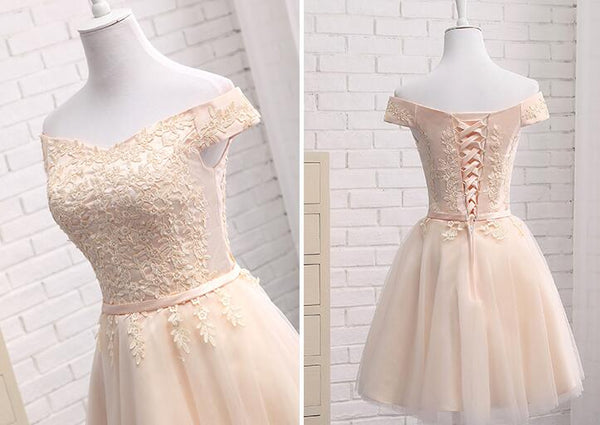 Lovely Tulle Cap Sleeves Party Dresses, Bridesmaid Dress for Sale