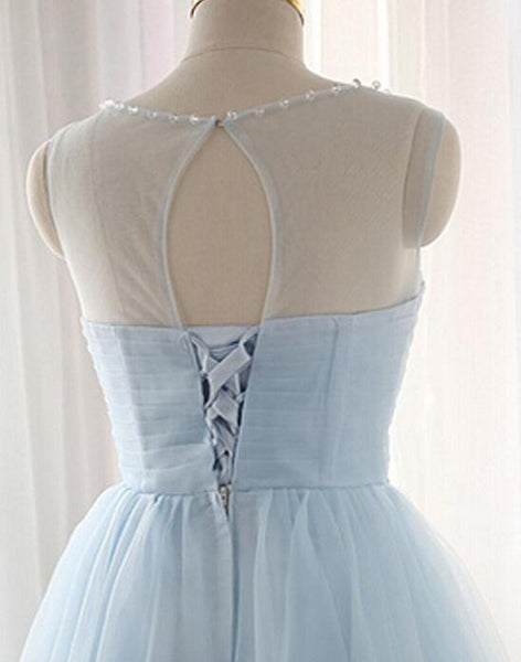 Lovely Light Blue Knee Length Party Dress, Blue Homecoming Dress