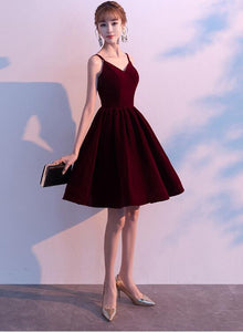 burgundy party dress