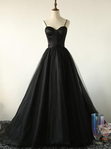 Black Sweetheart Tulle Party Dress