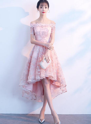 Pink High Low Party Dress 2020