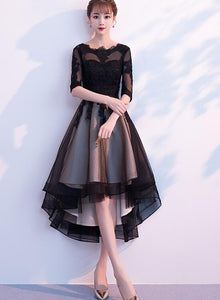 lace and tulle high low dress