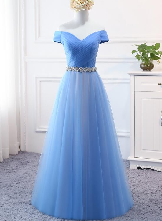 beautiful blue gown