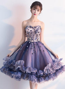 Cute Tulle Sweetheart Short Party Dress 2020, Flower Party Dress