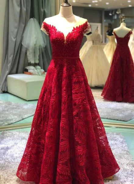 dark red prom dress 2020