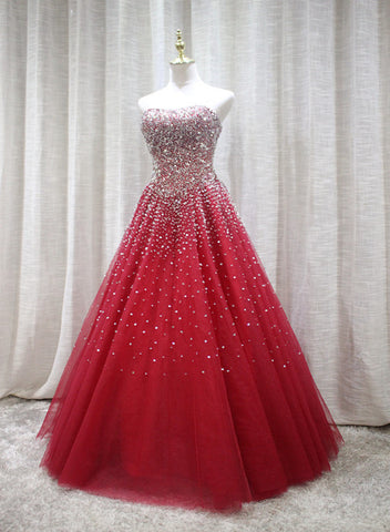 Red Sparkle Prom Dress 2019, Handmade Charming Formal Gown, Prom Dress 2019