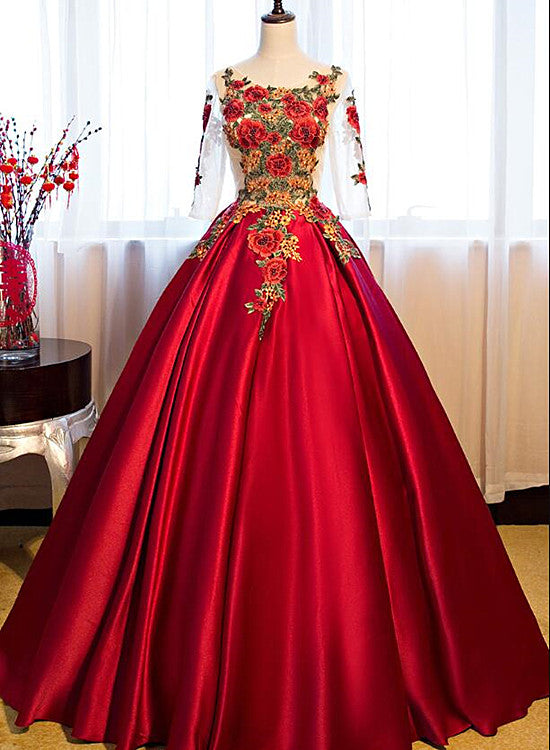 dark red sweet 16 dresses