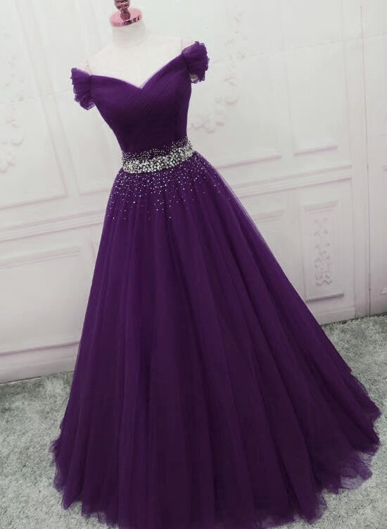 Purple junior prom dress