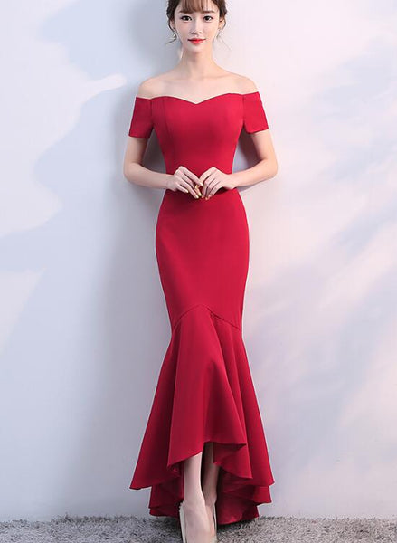red mermaid party dress