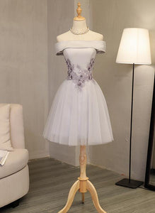 light grey homecoming dress