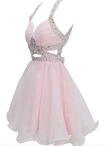 pink short party dress