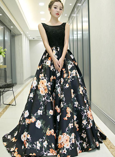 black formal long party dress