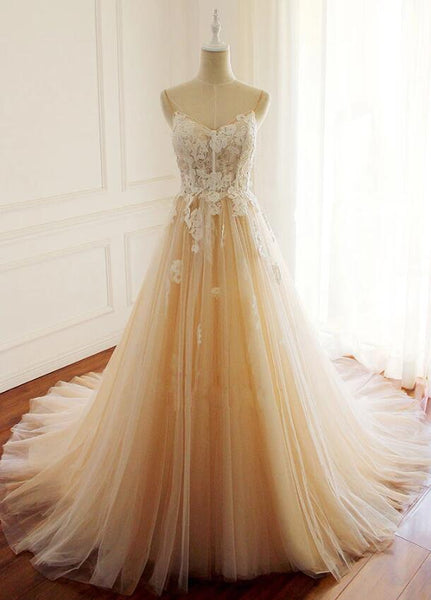 Gorgeous Long Tulle with Lace Long Prom Dress 2020, Party Dress