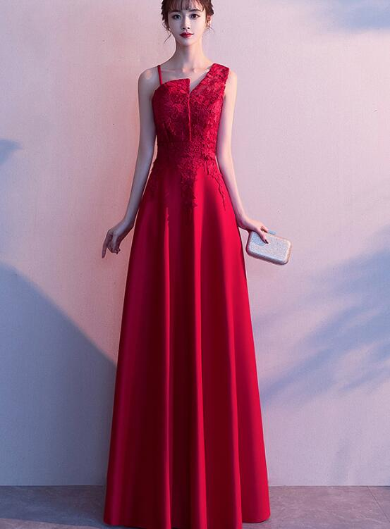 red long prom dress 2020