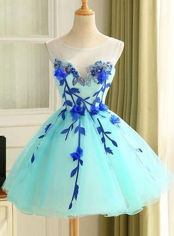 Lovely Mint Green Short Party Dress, Sweetheart Homecoming Dress