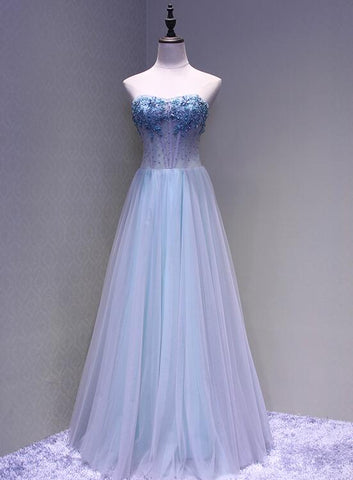 Beautiful Sweetheart Tulle A-line Formal Gown, Pretty Party Dress 2019