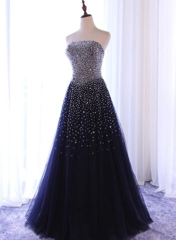 Beautiful Sparkle Sequins A-line Party Dress 2019, Handmade Formal Gowns 2019