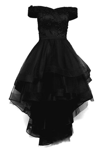 black high low homecoming dress
