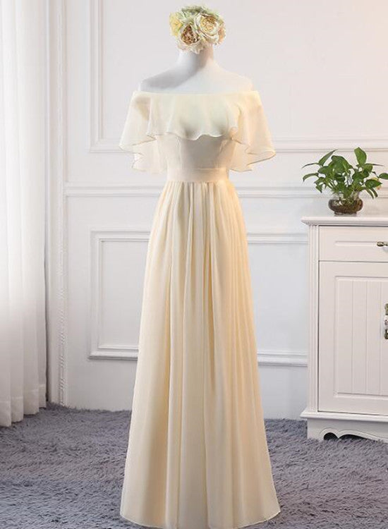 Beautiful Chiffon Bridesmaid Dress 2019, Long Party Gowns 2019, Prom Dresses