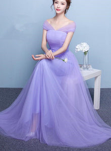 lavender tulle bridesmaid dress