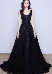 black tulle prom dress 2019