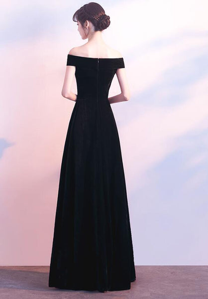 Charming Black Long Bridesmaid Dress, Elegant Formal Gown, Prom Dress