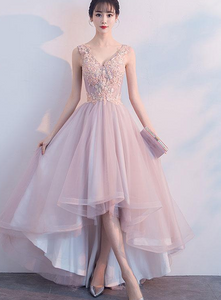 pink high low homecoming dress