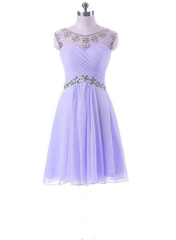 lavender beaded homecoming dress