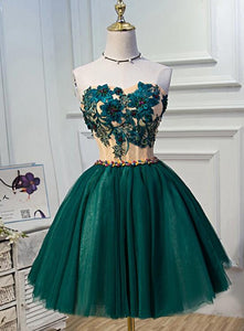 dark green homecoming dress