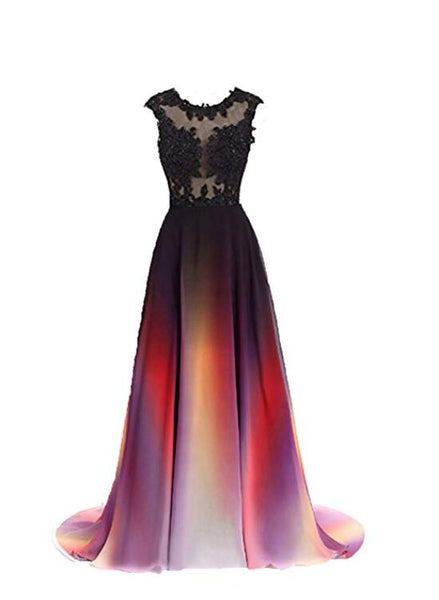 gradient long party dress