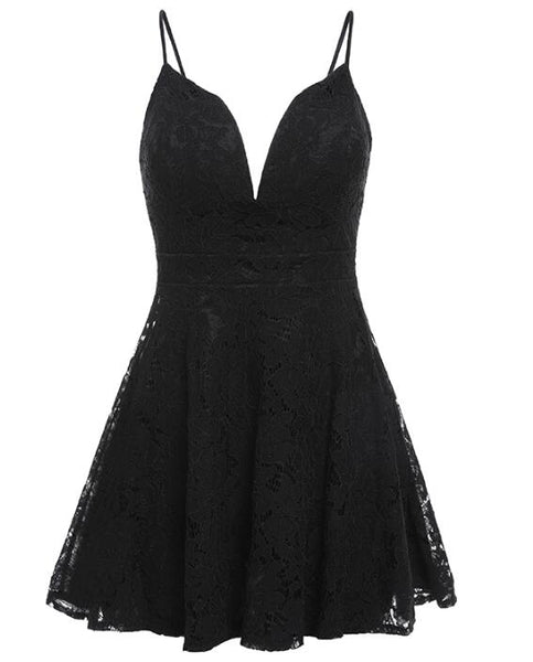 Sexy Lace Straps Mini Party Dress, Short Lace Homecoming Dress