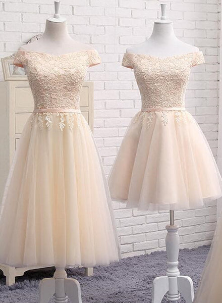 champagne bridesmaid dress