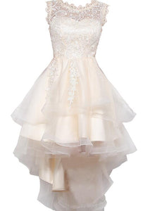 champagne high low party dress
