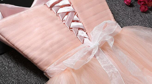 Lovely Cute Pink Sweetheart Homecoming Dress with Belt, Short Prom Dress